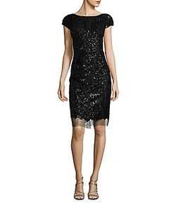 Vera Wang | Sequin Sheath Dress