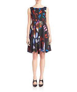 Giorgio Armani   Printed Fit Flare Dress
