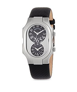 Philip Stein   Sapphire Stainless Steel Dual Dial Watch