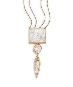 Alexis Bittar | Miss Havisham Deconstructed Deco Howlite Crystal Pendant Necklace