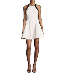 Halston Heritage | Halterneck Sleeveless A-Line Dress
