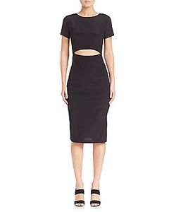 Suno | Solid Silk Cutout Body-Con Dress