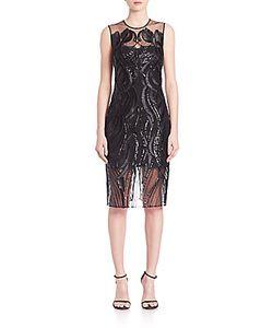 Marchesa | Sleeveless Sequined Dress