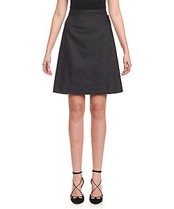 Carolina Herrera | A-Line Button-On-Waist Skirt