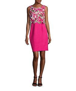 Karl Lagerfeld | Lace-Accented Popover Dress