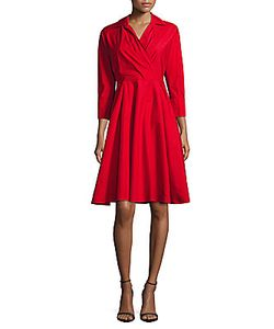 Max Mara   Solid Fit-And-Flare Dress