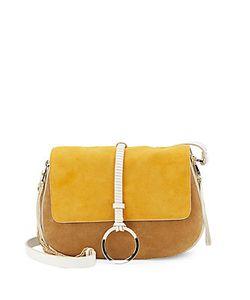 Halston Heritage | Halston Crossbody Leather Saddle Bag