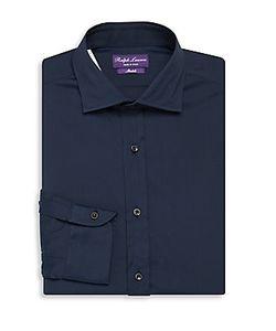 Ralph Lauren | Bond Solid Cotton-Blend Dress Shirt