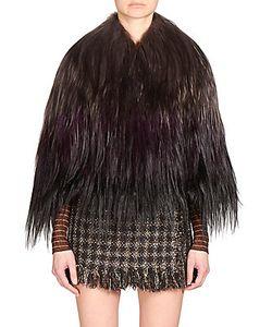 Yves Salomon | Long-Haired Goat Fur Cape