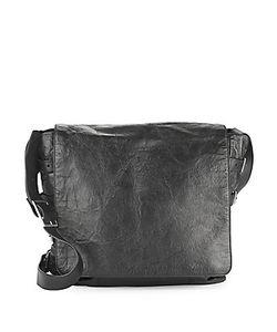 John Varvatos | Leather Front-Flap Crossbody Bag