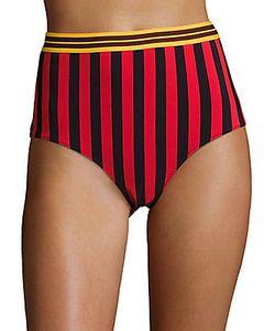 Stella McCartney | Striped High-Waist Bikini Bottom