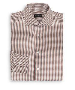 Ermenegildo Zegna | Shadow-Check Cotton Dress Shirt