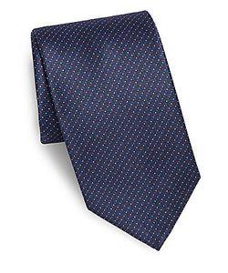 Brioni | Dotted Zigzag Silk Tie