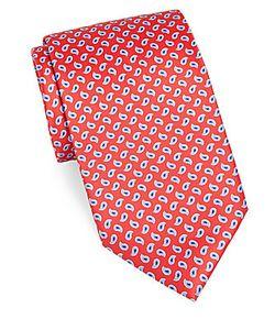 Brioni | Paisley Printed Silk Tie