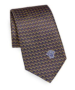 Versace | Two-Tone Chevron Silk Tie