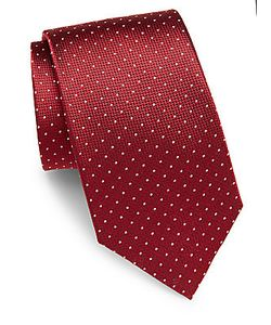 Saint Laurent | Dotted Silk Tie