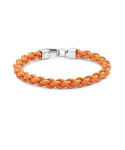 Tateossian | Leather Braided Bracelet