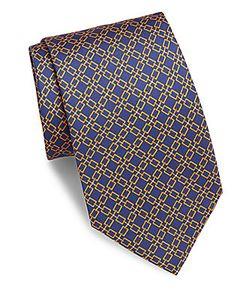 Brioni | Geo-Print Silk Tie