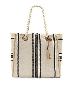 Vince Camuto | Ulla Cotton And Linen Blend Tote