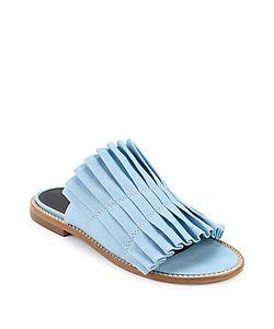 Tibi | Jill Pleated Slip-On Sandals
