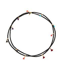 Shashi | Lilu 18k Plated Beaded Necklace