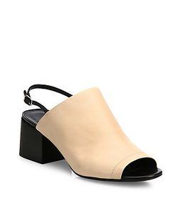 3.1 Phillip Lim | Cube Leather Block-Heel Slingback Mules