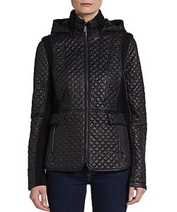 Saks Fifth Avenue BLUE | Hooded Quilted Jacket