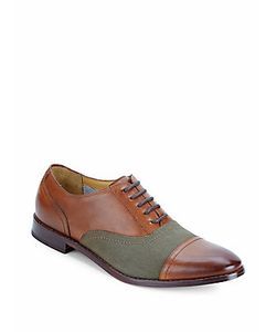 Michael Bastian | Cap-Top Leather Oxfords