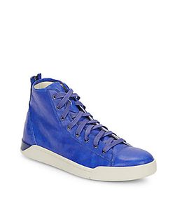 Diesel | Tempus Diamond Flatform Leather Sneakers