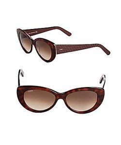 Tod's | 56mm Tortoise Shell Butterfly Sunglasses