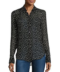 Theory | Sunaya Nc Silk Star-Print Blouse