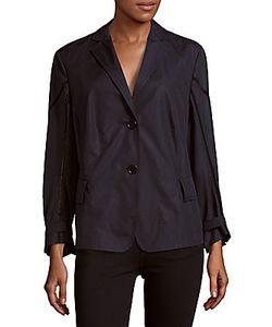 Akris | Solid Notch-Collar Cotton Jacket