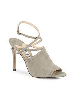 Jimmy Choo | Open-Toe Leather Stiletto Sandals