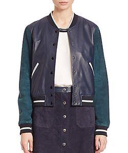 Rag & Bone | Alix Two-Tone Leather Suede Jacket