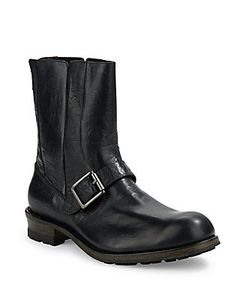 John Varvatos | Lincoln Moto Leather Boots