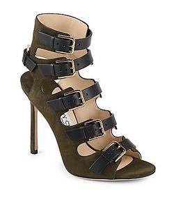 Jimmy Choo | Six Buckle High Heeled Sandals