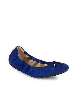 Tod's | Leather Tie Up Ballet Flats