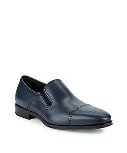 Salvatore Ferragamo   Leather Cap Toe Loafers