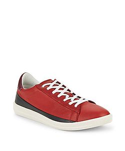 Diesel | Leather Lace-Up Sneakers