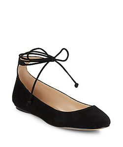 Karl Lagerfeld | Larose Suede Lace-Up Flats