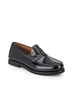 Salvatore Ferragamo   Spalato Leather Penny Loafers