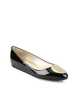Jimmy Choo | Slip-On Leather Wedge Flats