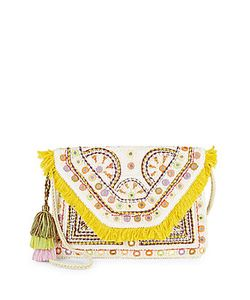 Antik Batik | Fringed Trim Cotton Shoulder Bag