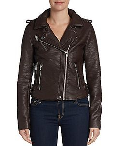 Bagatelle | Faux Leather Buckle-Trim Moto Jacket
