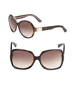 Tod's | 58mm Tortoiseshell Square Sunglasses