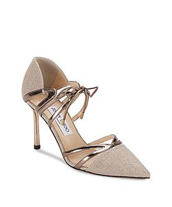Jimmy Choo | Leather Point-Toe Leather Pumps