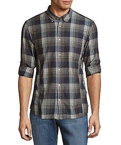 John Varvatos | Casual Button-Down Plaid Shirt