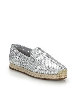 Michael Kors Collection | Toni Woven Leather Espadrille Flats