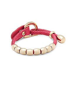 Salvatore Ferragamo | Braided Leather Bracelet