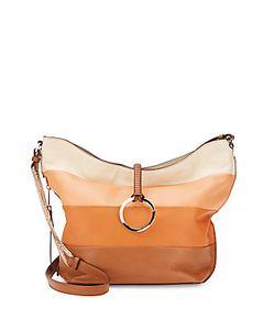 Halston Heritage | Halston Colorblock Leather Shoulder Bag